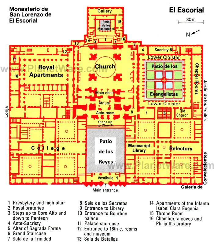 El Escorial Map - Tourist Attractions