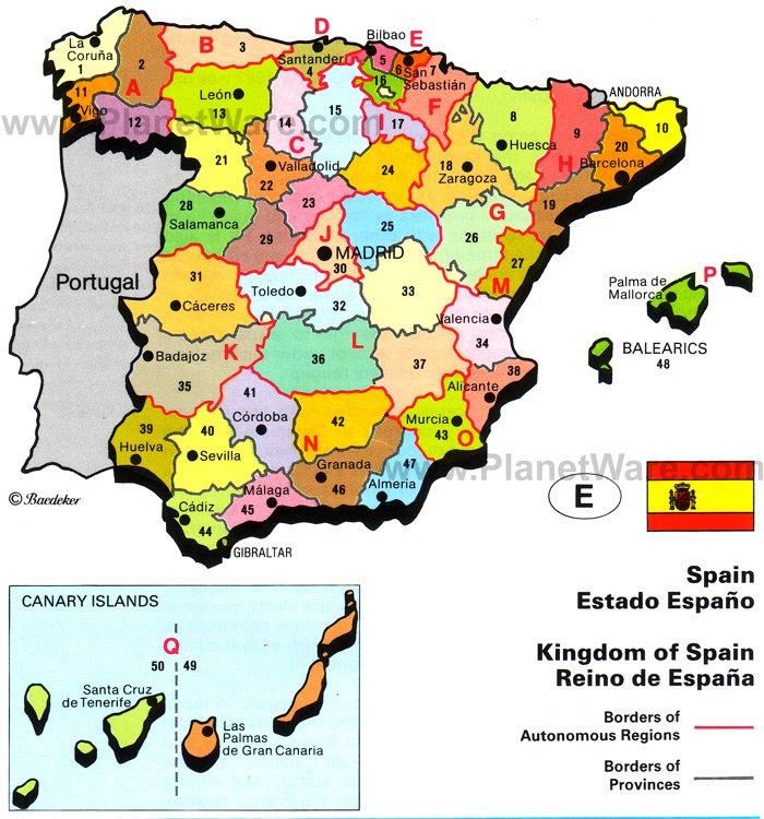 Kingdom of Spain Map
