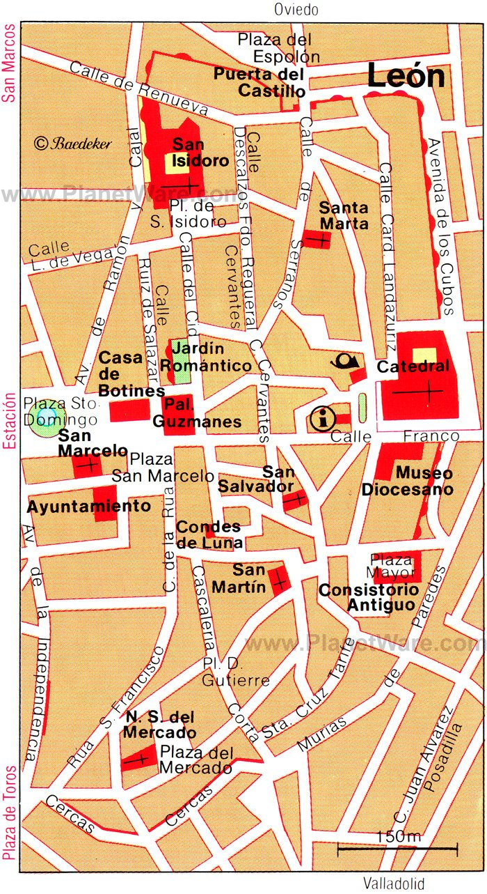 León Map - Tourist Attractions