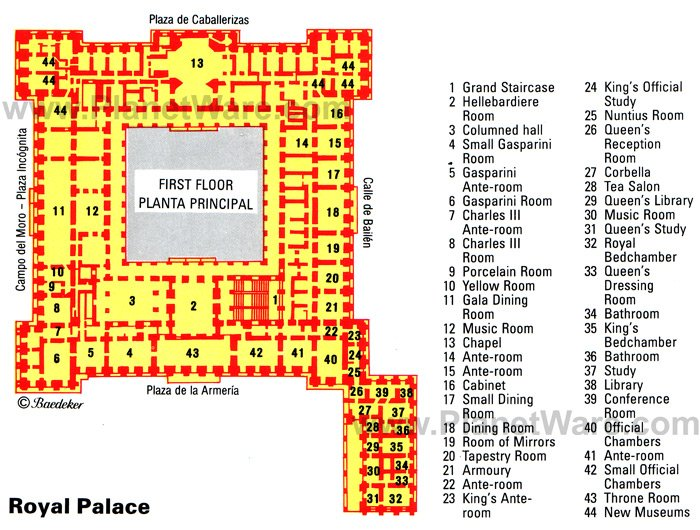 Madrid Royal Palace - Floor plan map