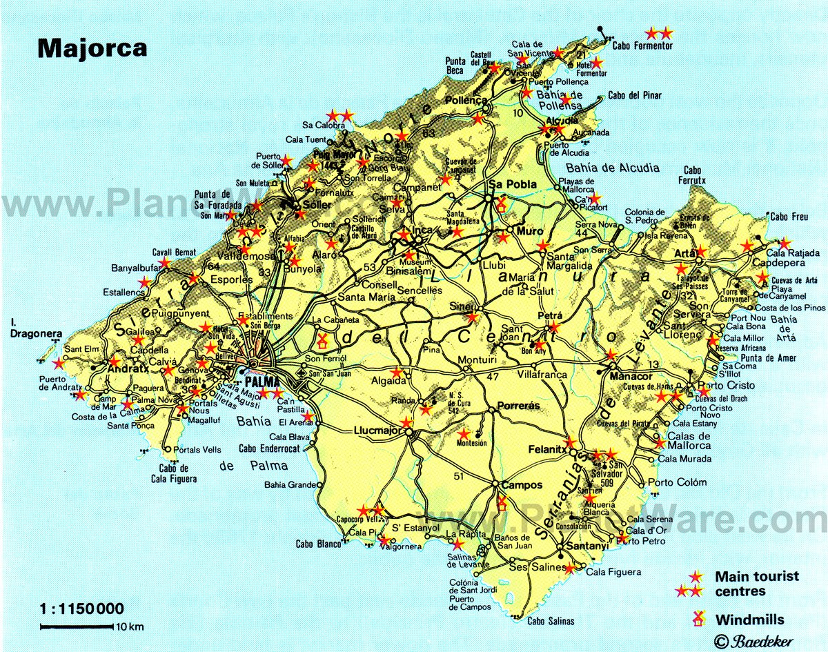 12 TopRated Tourist Attractions in Majorca Mallorca – Spain Tourist Attractions Map