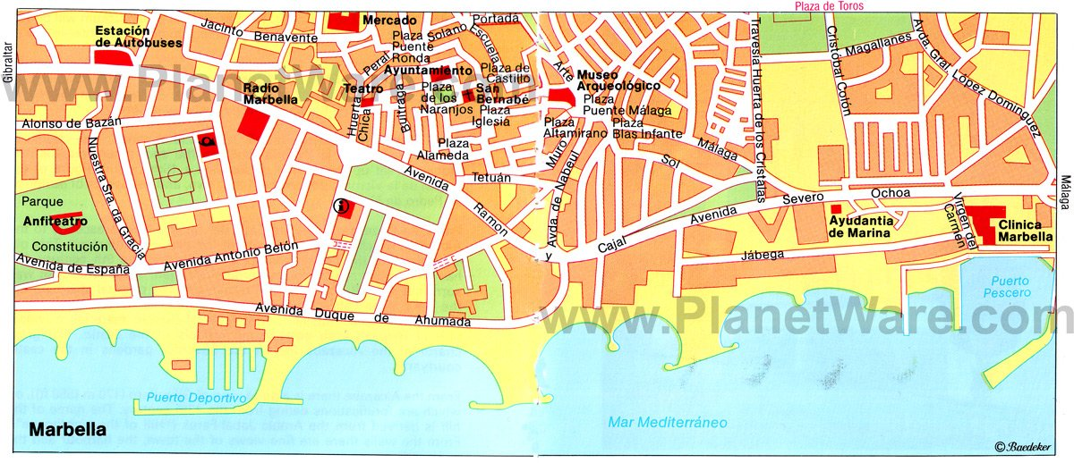 Marbella Map - Tourist Attractions