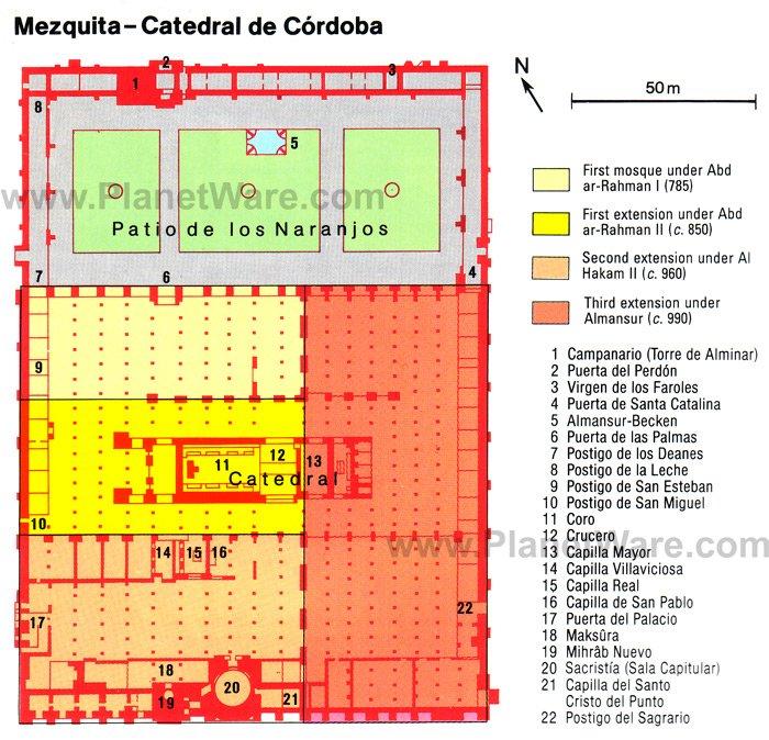 Mezquita - Catedral de Córdoba - Floor plan map