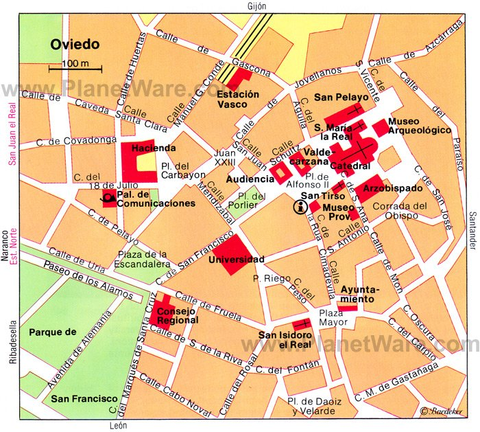Oviedo Map - Tourist Attractions