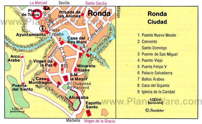 Ronda Map - Tourist Attractions