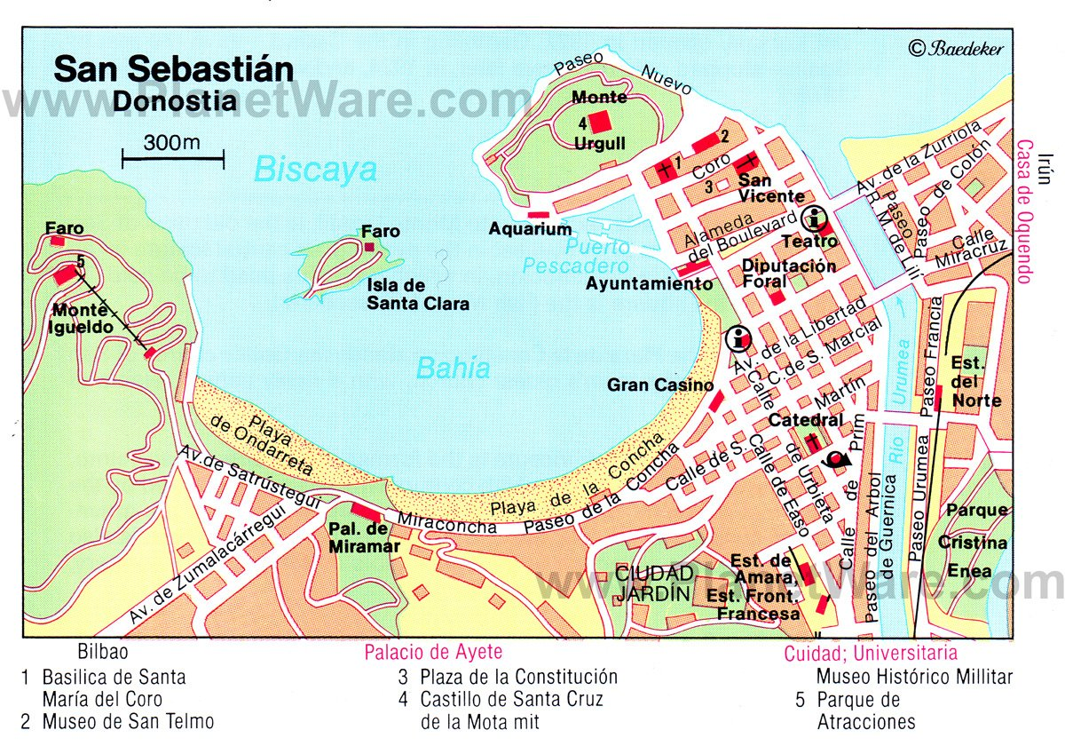 San Sebastian Map 14 Top Tourist Attractions in San Sebastian & Easy Day Trips  San Sebastian Map