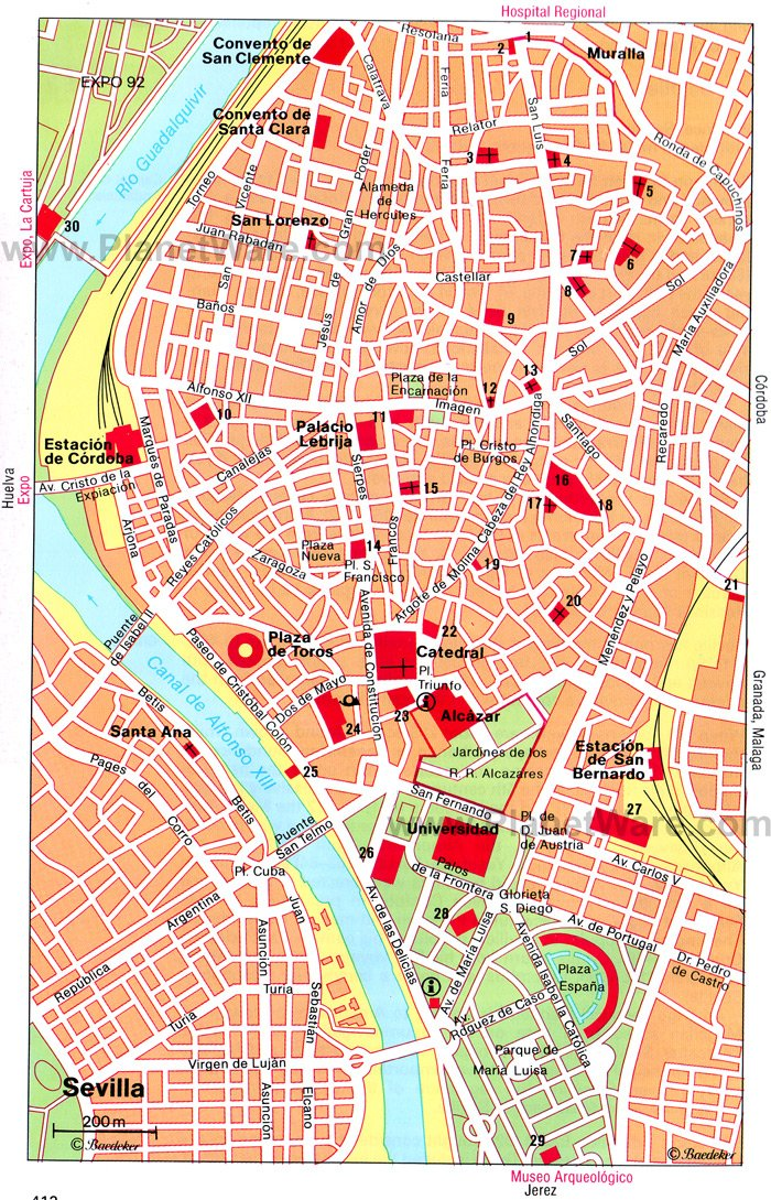 15 TopRated Tourist Attractions in Seville – Tourist Map Of Cordoba Spain