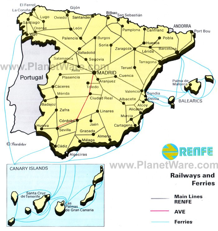 The Train in Spain PDF book Downloads – Train Travel In Spain Map
