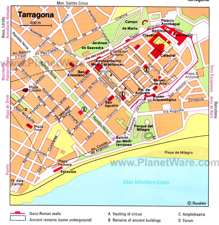 TARRAGONA SPAIN MAP Imsa Kolese – Tourist Map Of Cordoba Spain