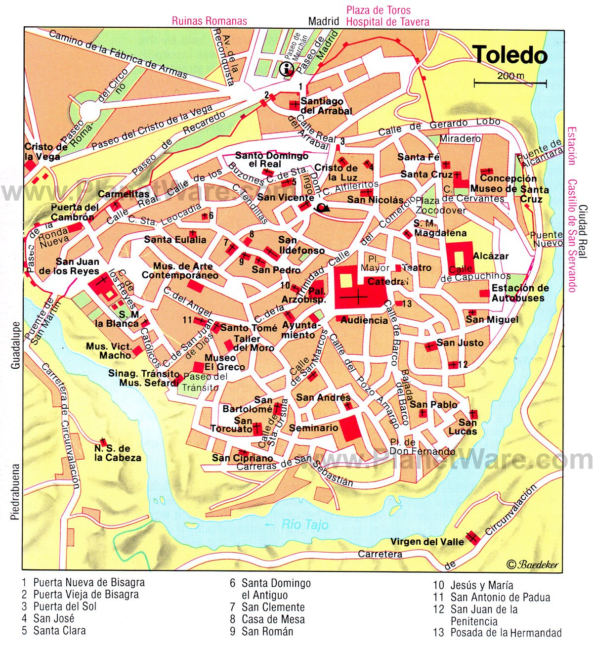 15 Top Tourist Attractions in Toledo and Easy Day Trips – Santa Fe Tourist Attractions Map