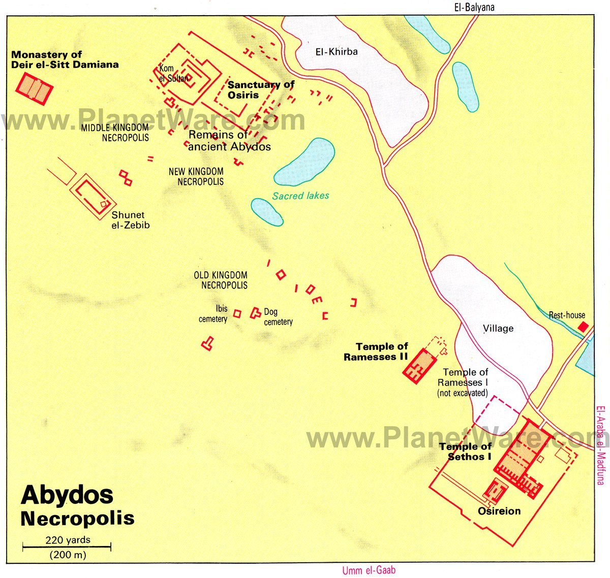 Exploring The Temples Of Abydos A Visitors Guide PlanetWare - Map of egypt during the new kingdom