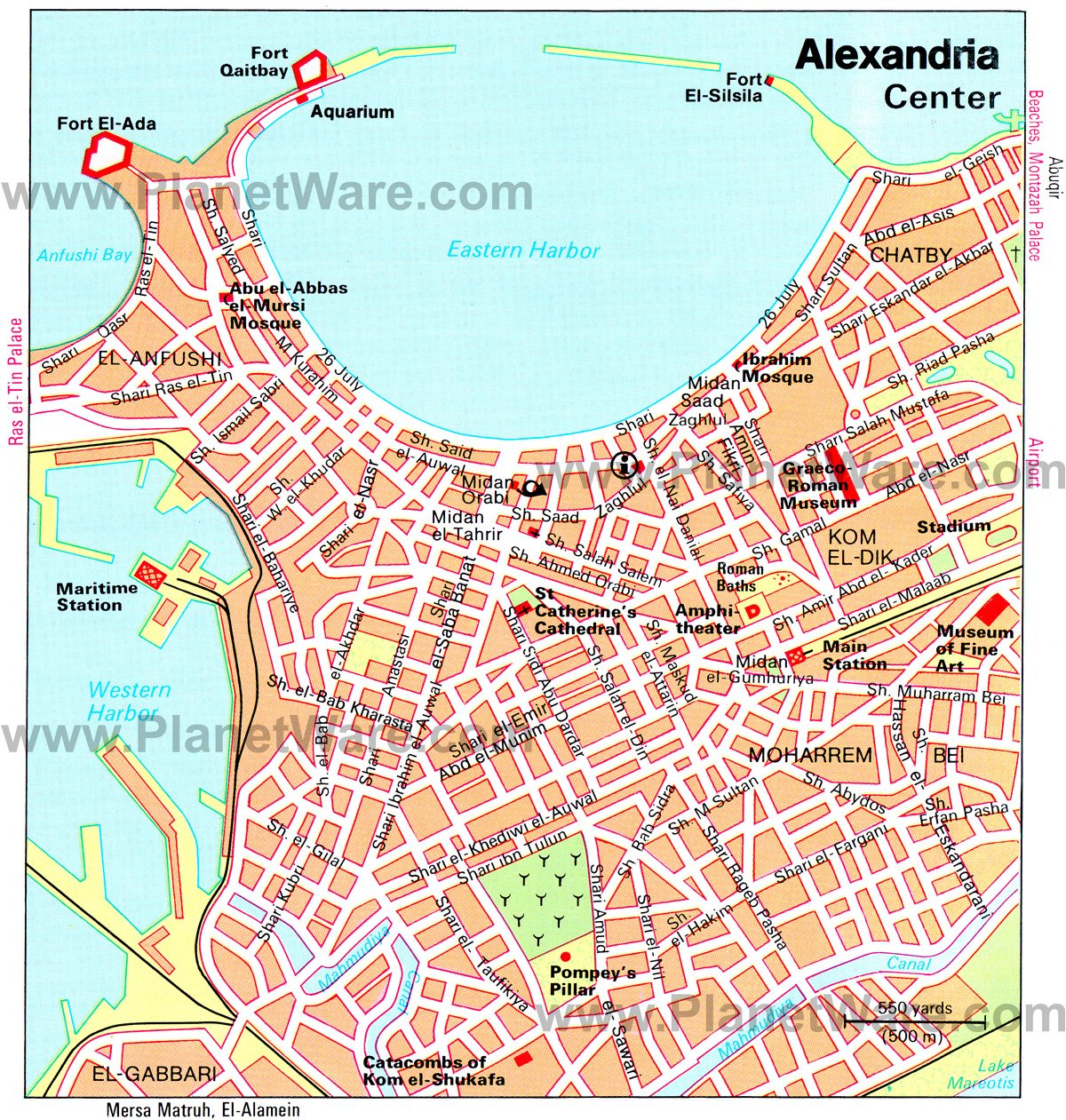 14 Top Tourist Attractions in Alexandria and Easy Day Trips – Egypt Tourist Attractions Map