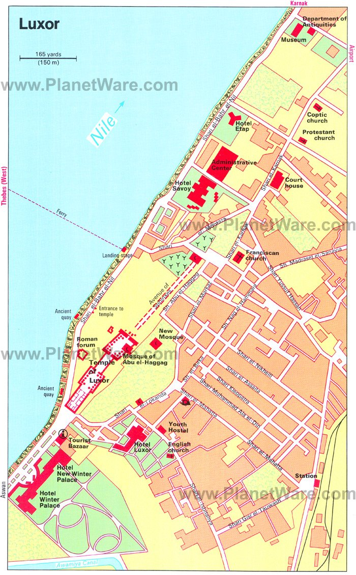 Luxor Map - Tourist Attractions