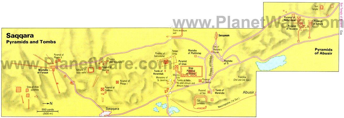 Giza Necropolis Map
