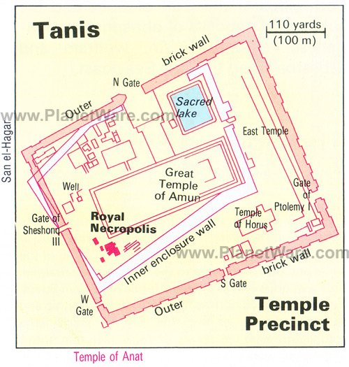 Map of Tanis- Temple Precinct