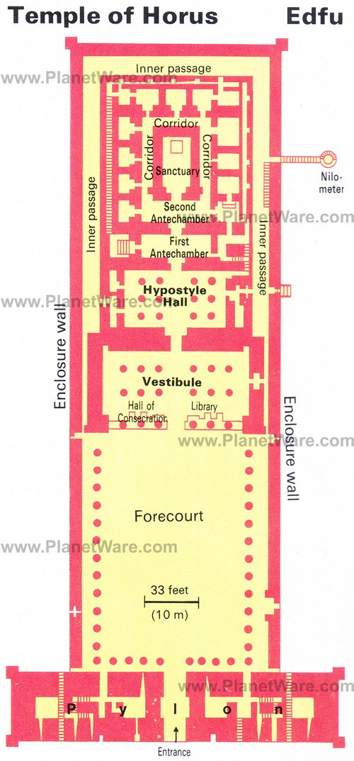 Temple of Horus - Floor plan map