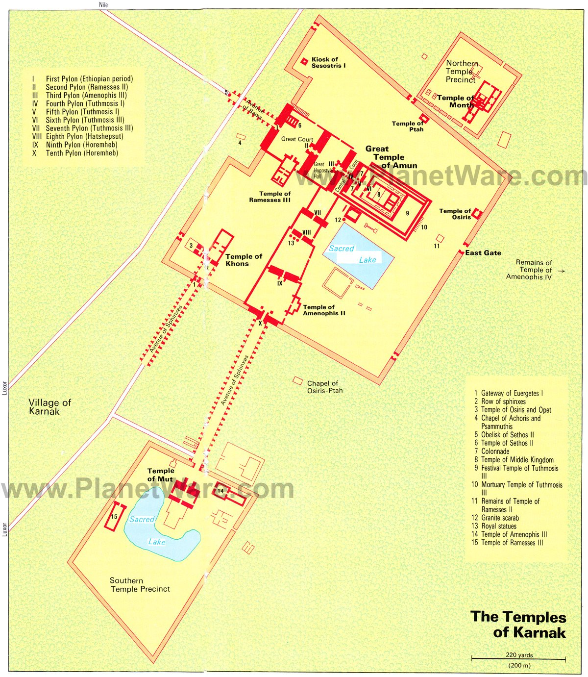 Exploring The Temples of Karnak A Visitors Guide – Egypt Tourist Attractions Map
