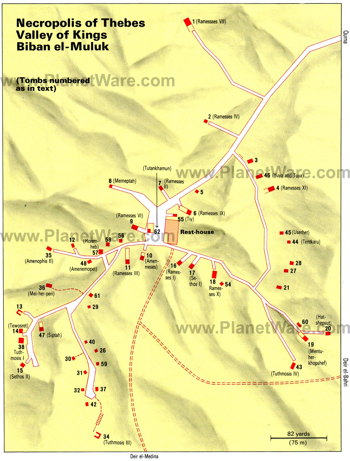 Exploring The Valley of the Kings: A Visitor's Guide | PlanetWare The Valley Map