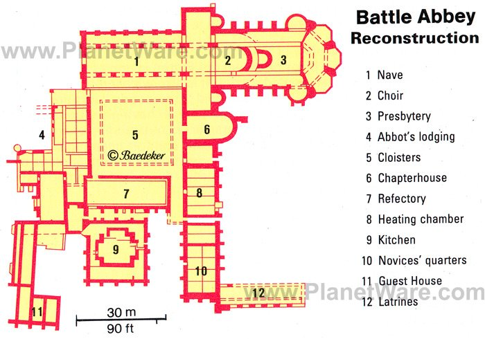 Battle - Battle Abbey Map