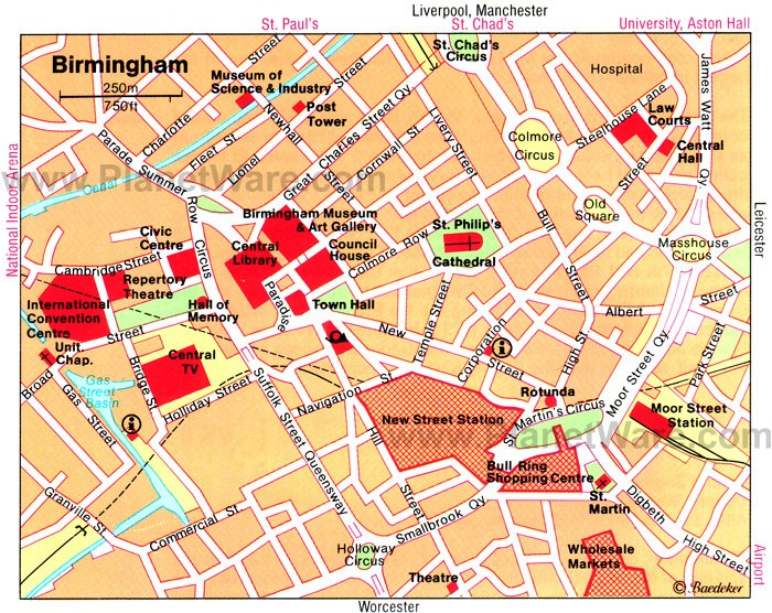 Birmingham Map - Tourist Attractions
