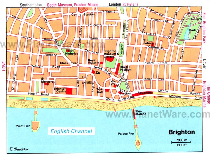 Brighton Map - Tourist Attractions
