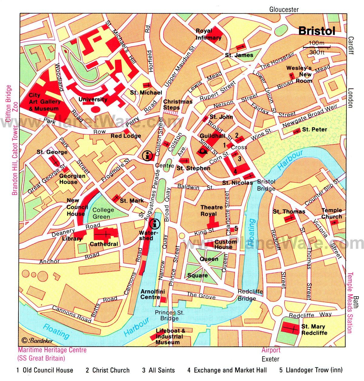 Bristol Map - Tourist Attractions