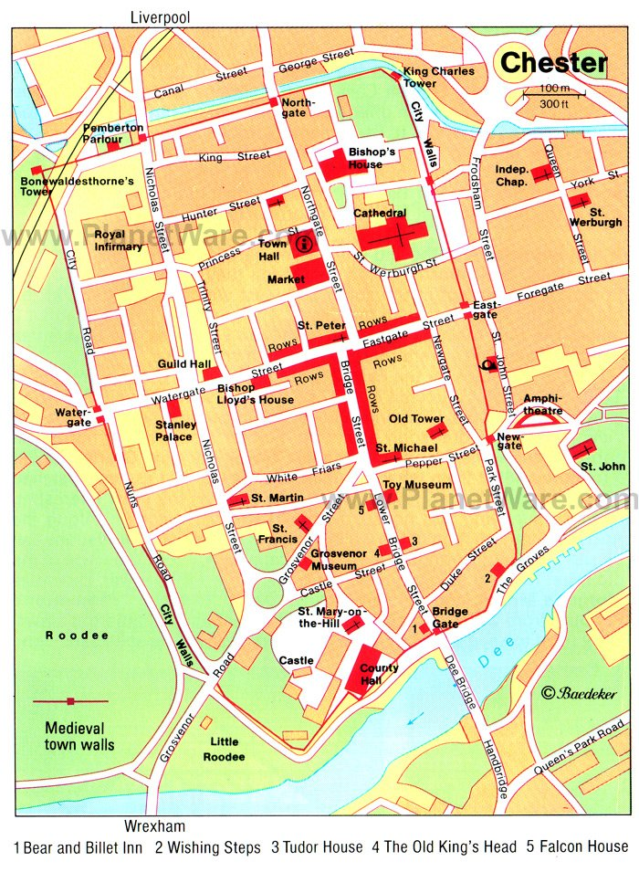 Map Of Chester City Centre 14 Top Rated Tourist Attractions in Chester | PlanetWare