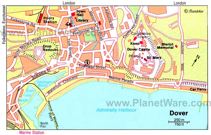 Dover Map - Tourist Attractions