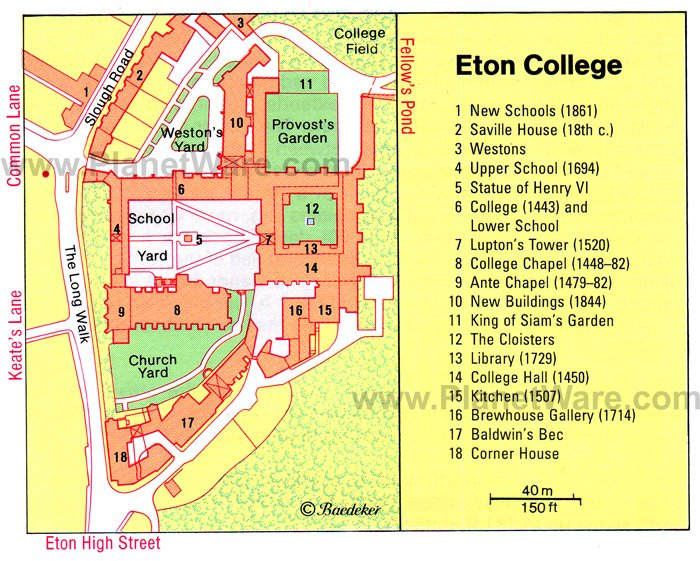 Eton College - Floor plan map