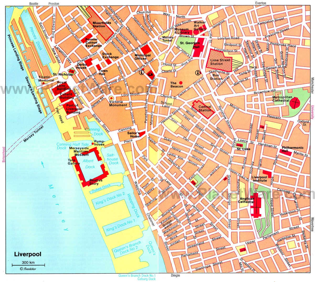 Liverpool Map - Tourist Attractions