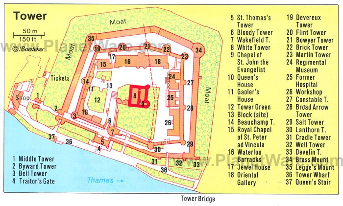 Exploring the Top 10 Attractions of the Tower of London – London Map of Tourist Attractions