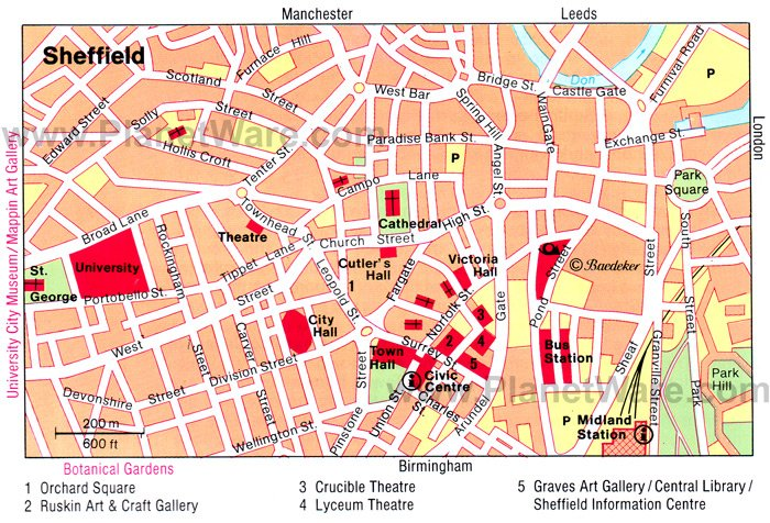 Sheffield Map - Tourist Attractions