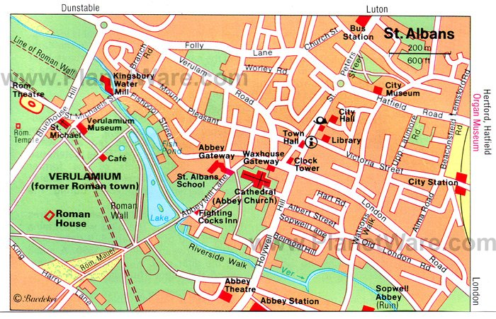 St Albans Map Top 8 Tourist Attractions in St Albans | PlanetWare