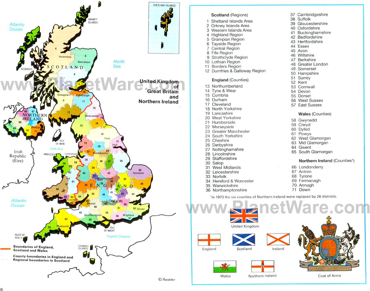 Map of United Kingdom of Great Britain and Northern Ireland
