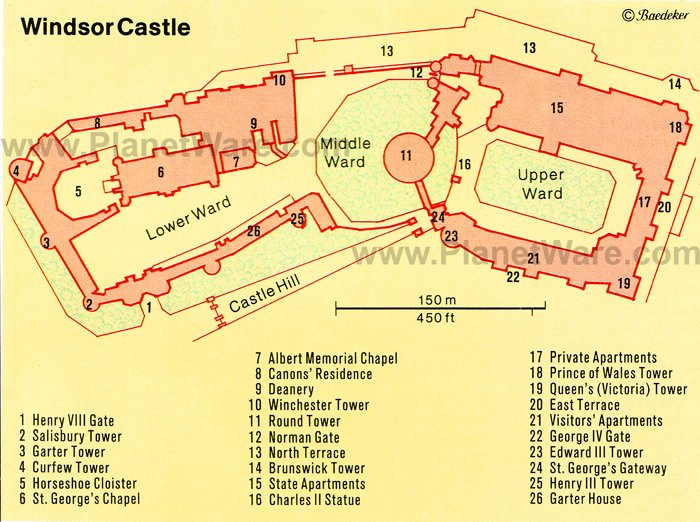 Windsor Castle - Floor plan map