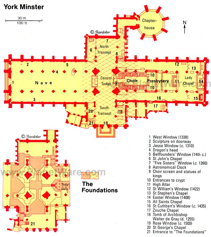 exploring york minster a visitor39s guide planetware With york minster floor plan