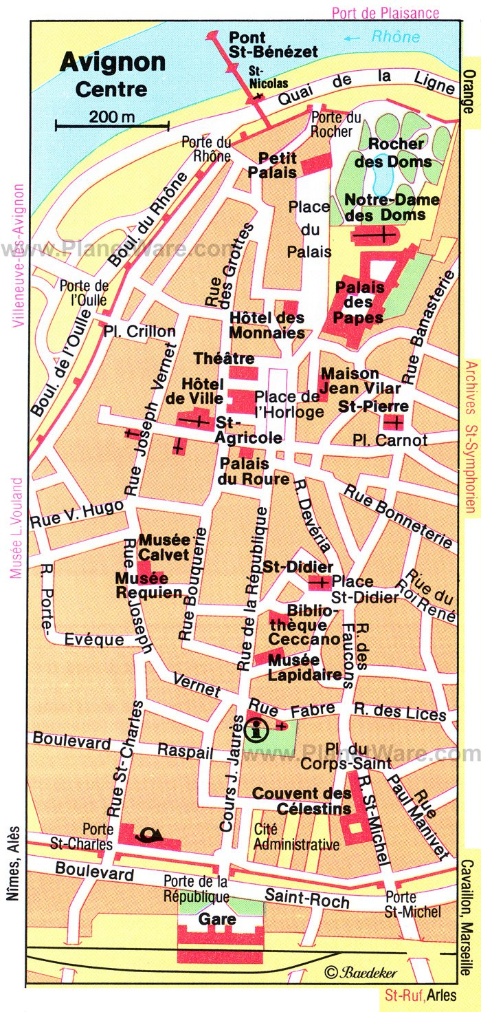 10 Top Tourist Attractions in Avignon and Easy Day Trips – Map of Tourist Attractions in Paris