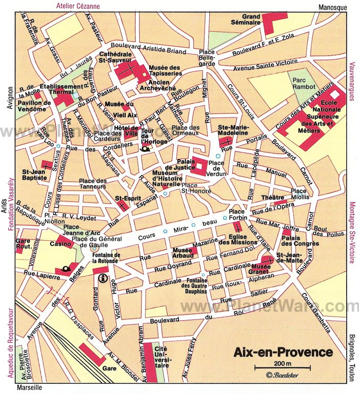 Aix-en-Provence Map - Tourist Attractions