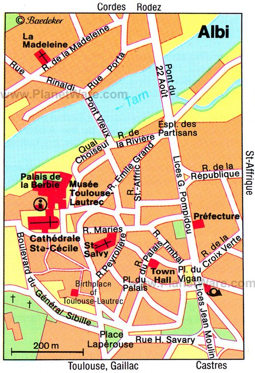 Albi Map - Tourist Attractions