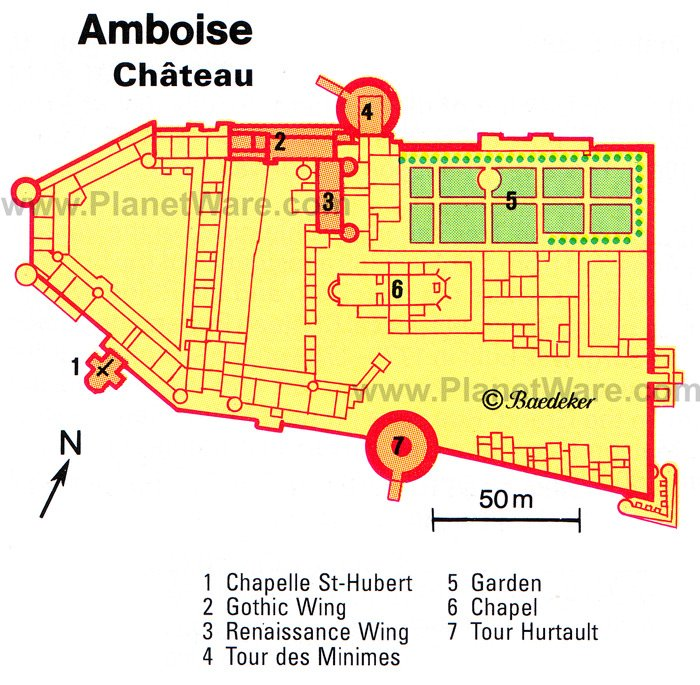 Amboise Château Map - Tourist Attractions