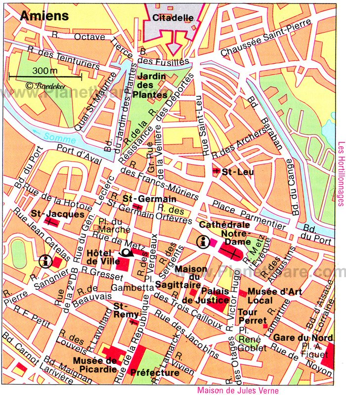 Amiens Map - Tourist Attractions