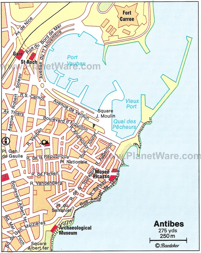 Antibes Map - Tourist Attractions