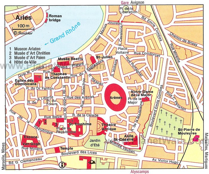 Arles Map - Tourist Attractions