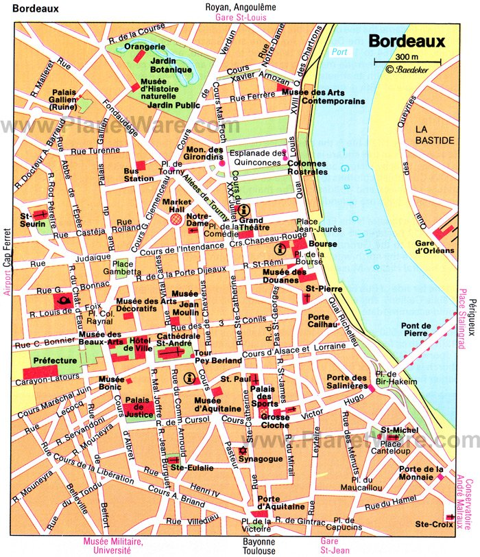 Bordeaux Map - Tourist Attractions