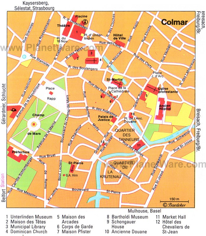 Colmar Map - Tourist Attractions