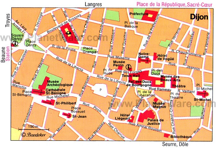 Dijon Map - Tourist Attractions