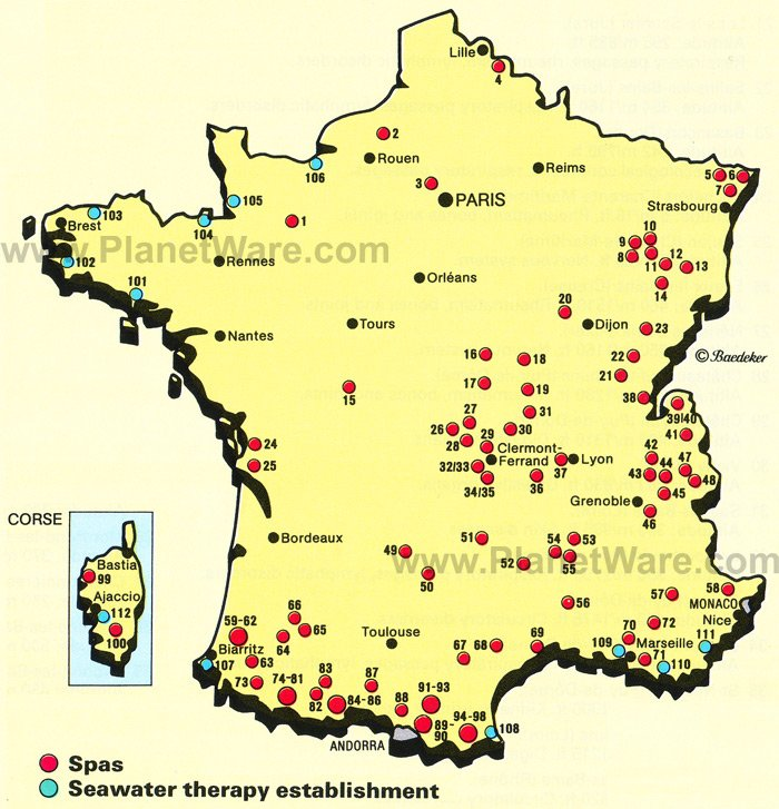 Frankreich Touristische Karte – France Tourist Attractions Map