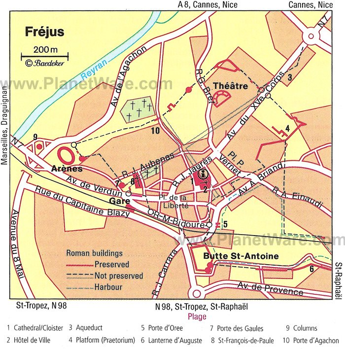 Fréjus Map - Tourist Attractions