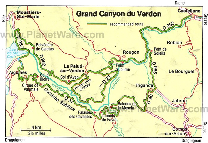 25 top tourist attractions in provence scenic drives - Domaine de la porte des gorges du verdon ...