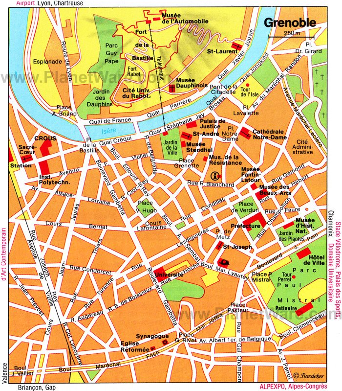 Grenoble Map - Tourist Attractions